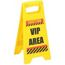 waarschuwingsbord VIP Area 24,5 cm geel