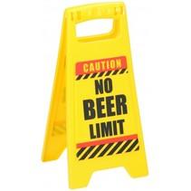 waarschuwingsbord No Beer Limit 24,5 cm geel