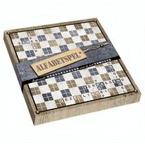 alfabetspel Knock on Wood