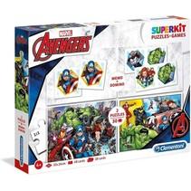 spel- en puzzelpakket Avengers 4-delig