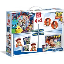 spel- en puzzelpakket Toy Story 4 4-delig