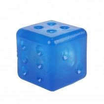dobbelsteen met licht 4 cm blauw