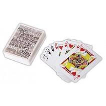 speelkaarten 2 sets in blikkendoos