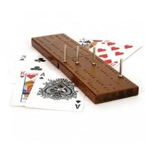 kaartspel cribbage met houten scorebord