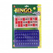 bingo reisspel rood/blauw 30 cm