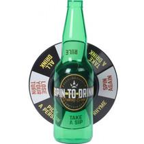 drankspel Roulette flesje draaien unisex groen