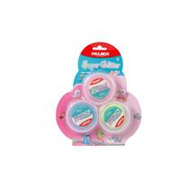 foamklei Super Glitter 45 ml blauw/roze/geel 3 stuks