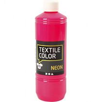 textielverf Neon 500 ml roze