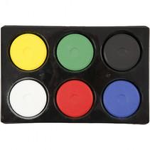 Waterverf 6 primaire kleuren 19 x 57 mm