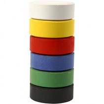 Waterverf navulling 6 primaire kleuren 16 x 44 mm