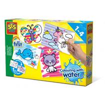 kleuren met water fantasie dieren junior
