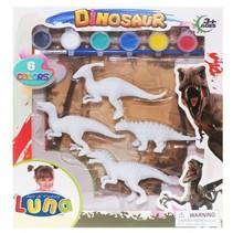 verfset gipsfiguren dinosaurussen 4-delig