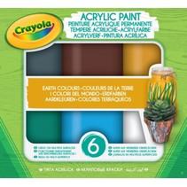acrylverf aardetinten 6 kleuren 59 ml