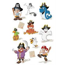 stickervel transpuffy Magic Pirates jongens 16 cm 11-delig