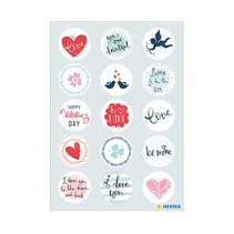 stickers Liefdesberichten meisjes 12 x 8,4 cm folie