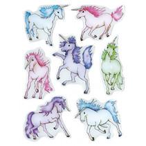 stickers Eenhoorns meisjes 12 x 8,4 cm folie 7 stuks