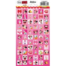stickervel Minnie Mouse meisjes papier roze 66-delig