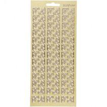 stickers glitter goud hoeken patroon