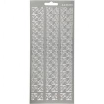 stickers zilver hoeken patroon