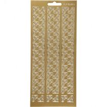 stickers goud hoeken patroon