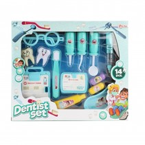 tandartsset blauw 14-delig