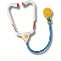 dokters stethoscoop 29 cm wit/blauw