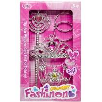 sieradenset prinsessen 4-delig zilver/roze