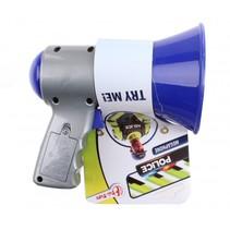 megafoon politie blauw 14 cm