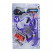 politie-set blauw 6-delig 42 cm