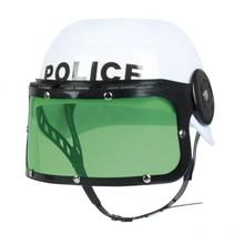 politiehelm jongen wit/groen