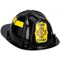 brandweerhelm zwart 32 cm