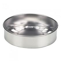 taartvorm zilver metaal 12 x 12 cm