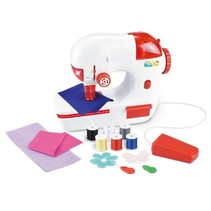 naaimachine met licht en geluid 25 cm rood/wit