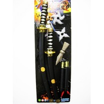 ninjaset 6-delig zwart/zilver