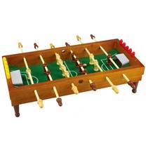 tafelvoetbalspel 35,5 x 35 cm bruin