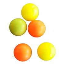 tafelvoetbalballen 5 stuks geel/oranje/roze