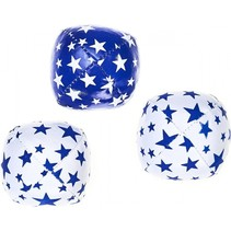 jongleerballen 80 gram blauw/wit 3-delig