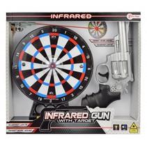 infarood pistool met dartbord