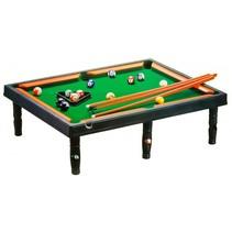 tafelbiljart snooker 68 x 48,5 cm zwart/groen