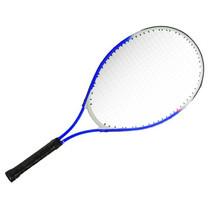 tennisracket junior 25 inch aluminium blauw/wit