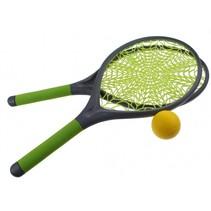 tennisset spinnenweb 21 cm groen