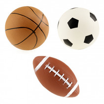 mini-sportballen Pro Sports rubber 3-delig