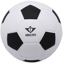 voetbal zacht 12,5 cm zwart/wit