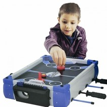 tafelspel 5-in-1 junior 43 cm wit/blauw