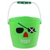 emmer Piraat 14 x 14,5 cm groen