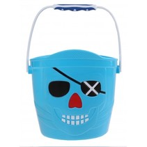 emmer Piraat 14 x 14,5 cm blauw