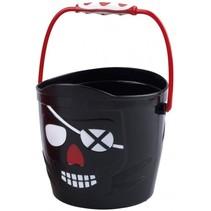 emmer piraten jongens 19 x 18 cm zwart