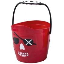 emmer piraten jongens 19 x 18 cm rood