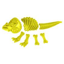 zandvormen dinosaurus junior 35 cm geel 7-delig