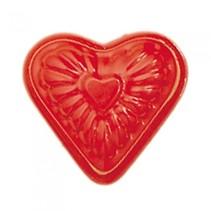zandvormpje hartvormig 10 cm rood